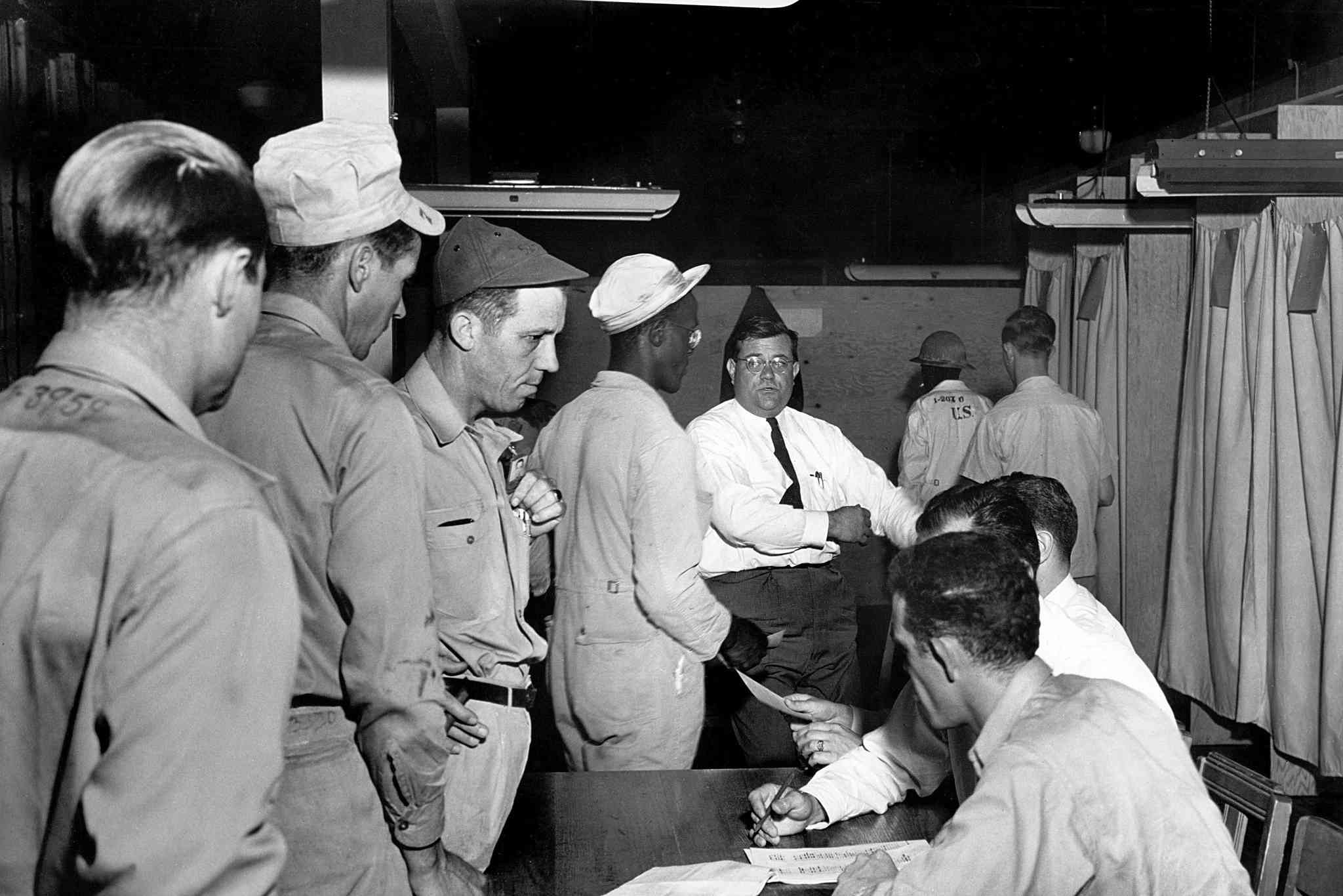 Workers voting to form a labor union