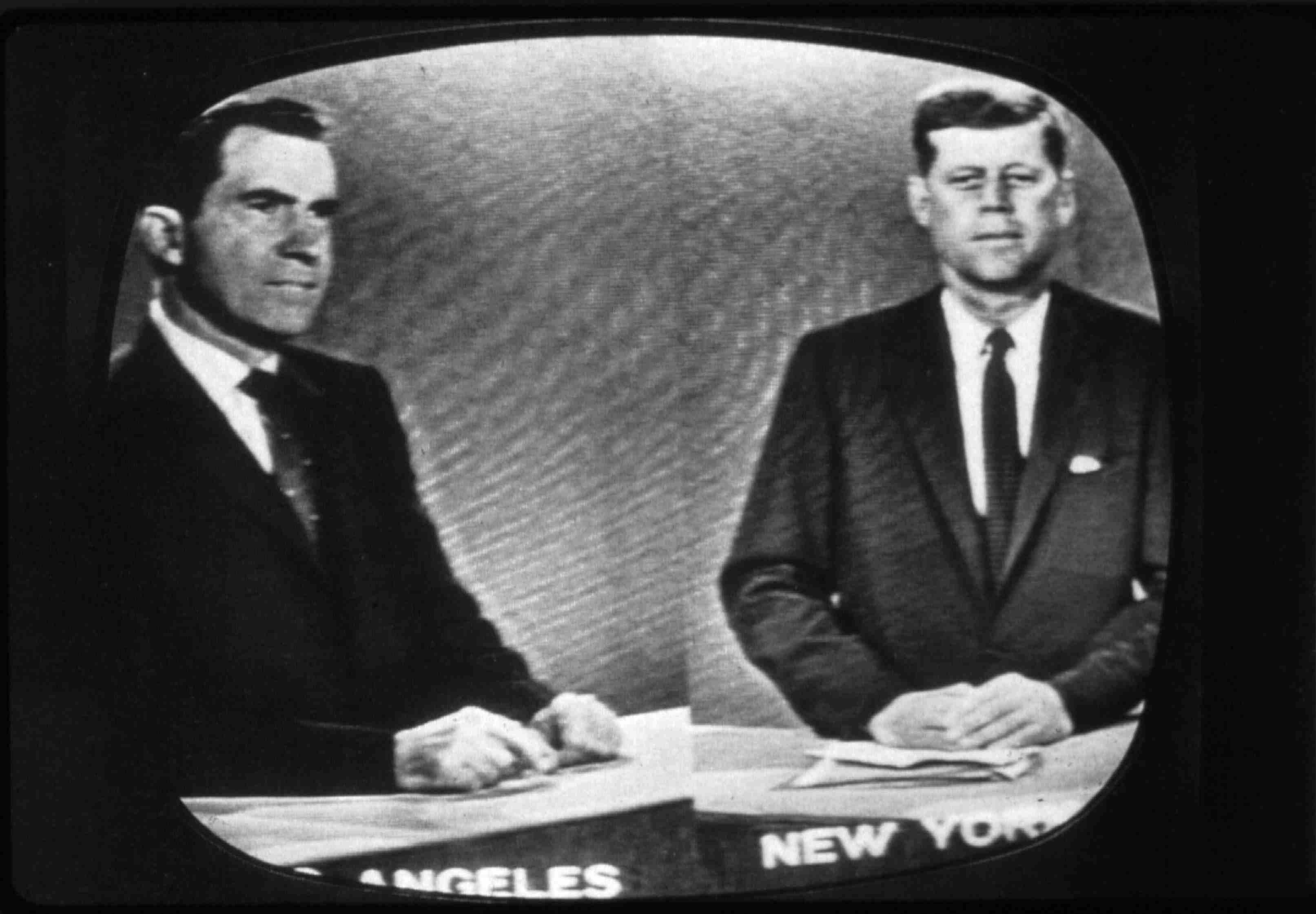 Republican Richard Nixon, left, and Democrat John F. Kennedy