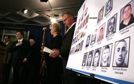 A US Attorney describing pictures of members of the Genovese crime family