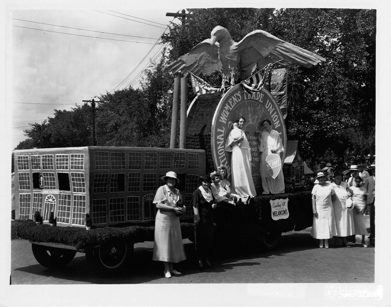 Float of National Women's Trade Union League 1934 Labor Day Parade in Birmingham