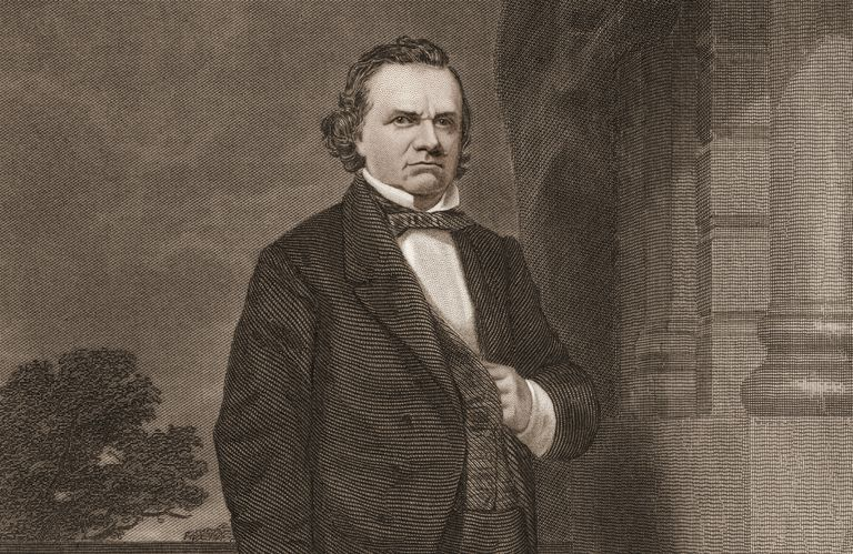 Engraving of Senator Stephen Douglas