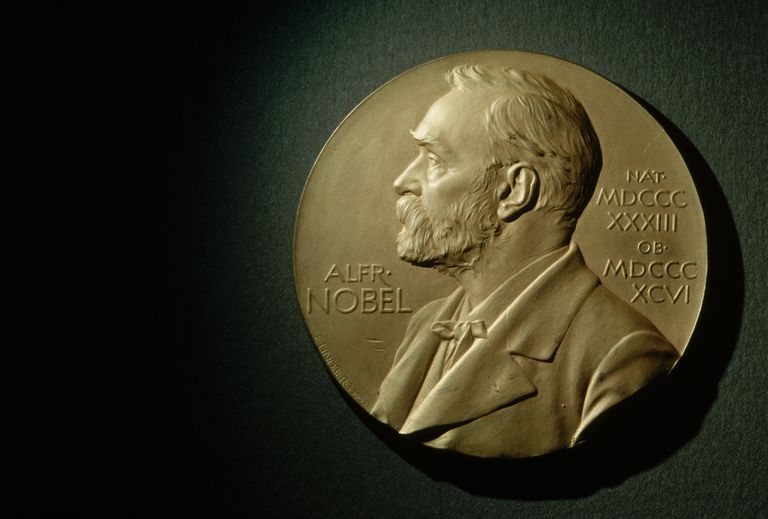 The Nobel Prize actual is made of gold. The medal bears the likeness of Alfred Nobel.