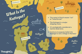 Illustrated map of the Bay of Kattegat