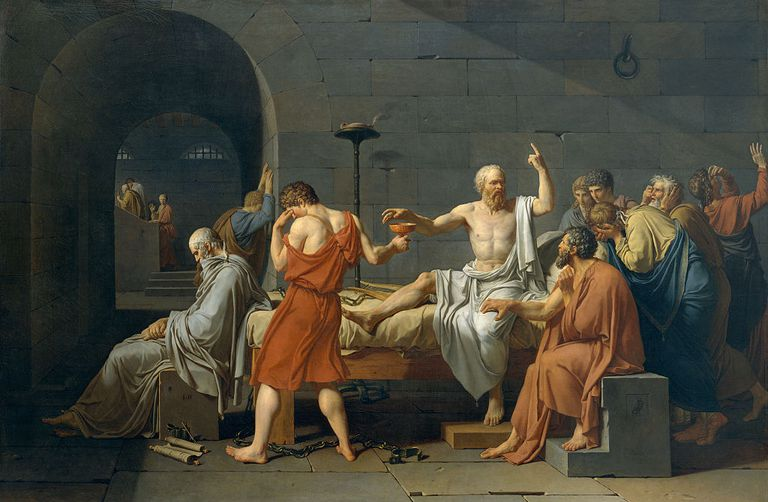 'The Death of Socrates', 4th century BC, (1787). Artist: Jacques-Louis David