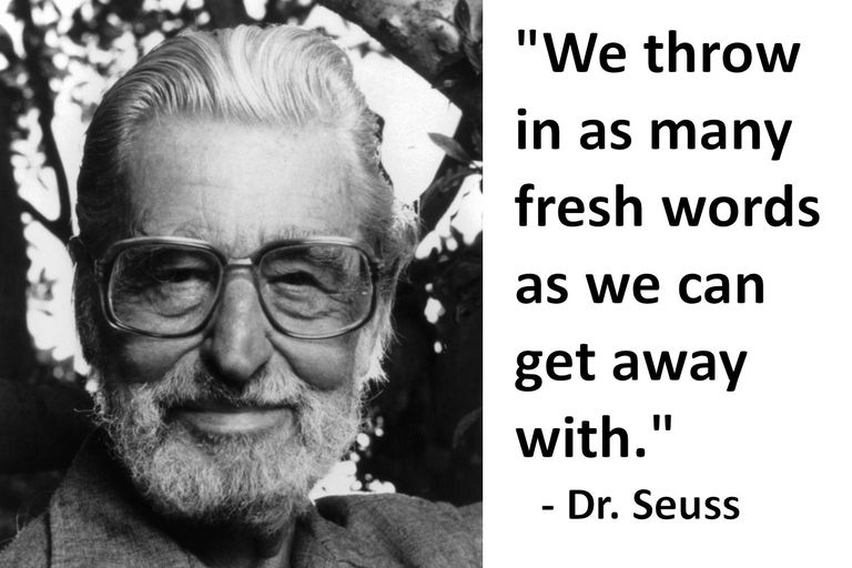 photo of Dr. Seuss and quote from him