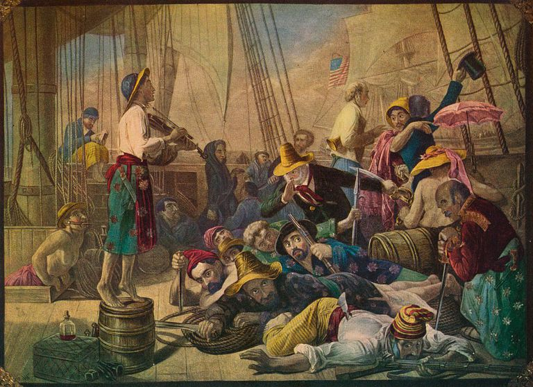 Pirates Decoying An American Ship, Circa 1880