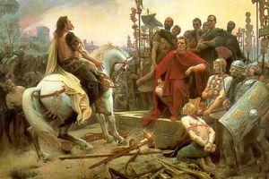 Vercingetorix surrenders to Julius Caesar
