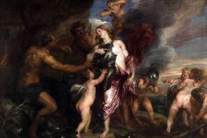 Thetis gets armor from Hephaestus for Achilles