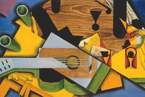 juan gris still life with a guitar