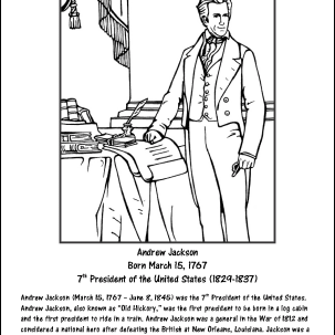 Andrew Jackson Coloring Page
