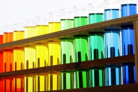 Chemical reactions often produce dramatic color changes.
