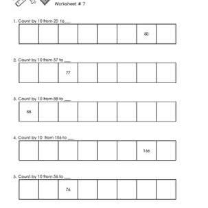 Worksheet # 7