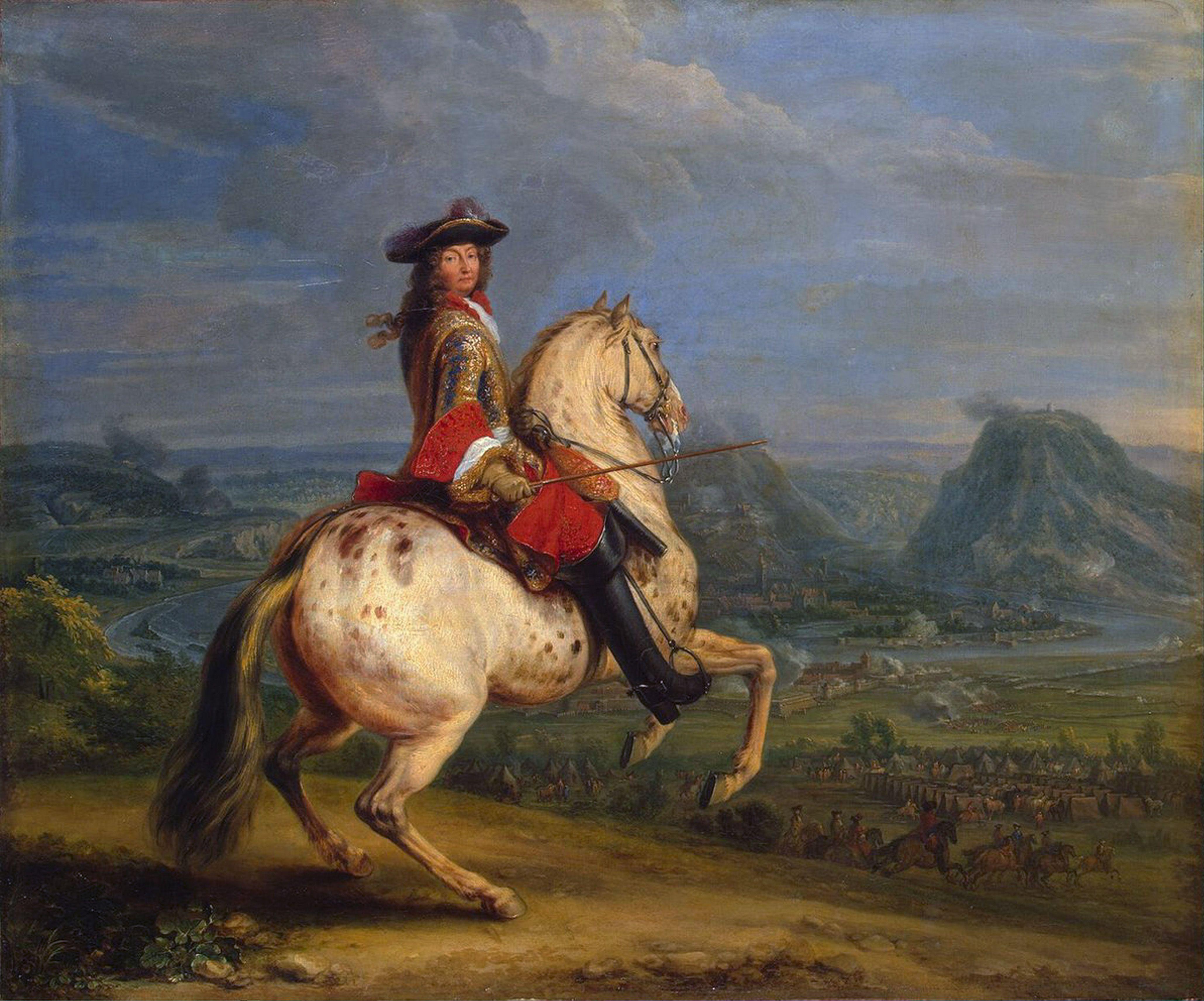 Louis XIV at the Taking of Besançon', 1674.