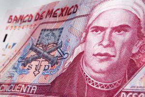 Jose Maria Morelos on a Mexican 50-peso note