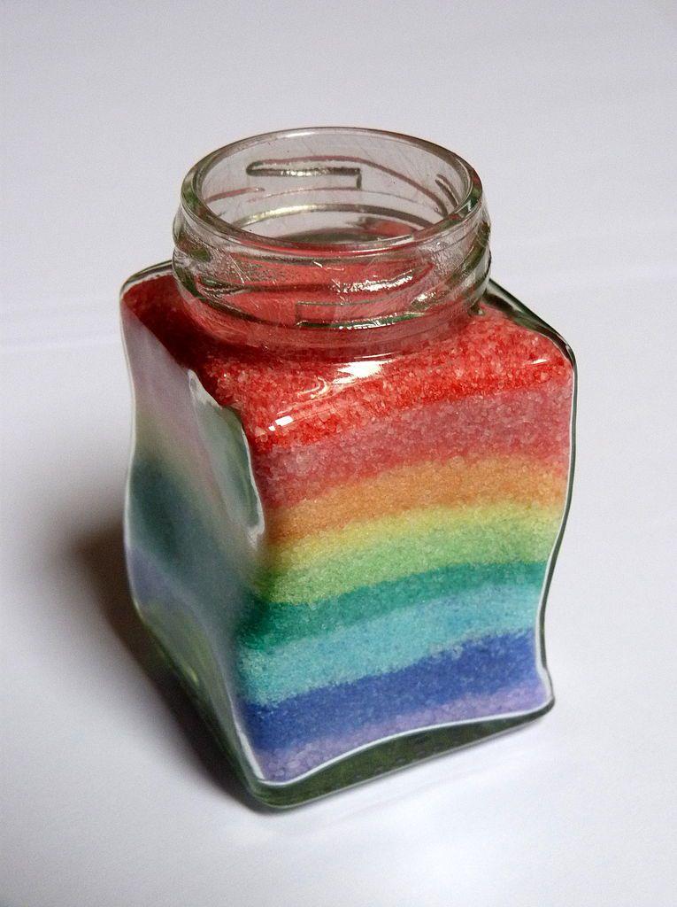 Colored salt