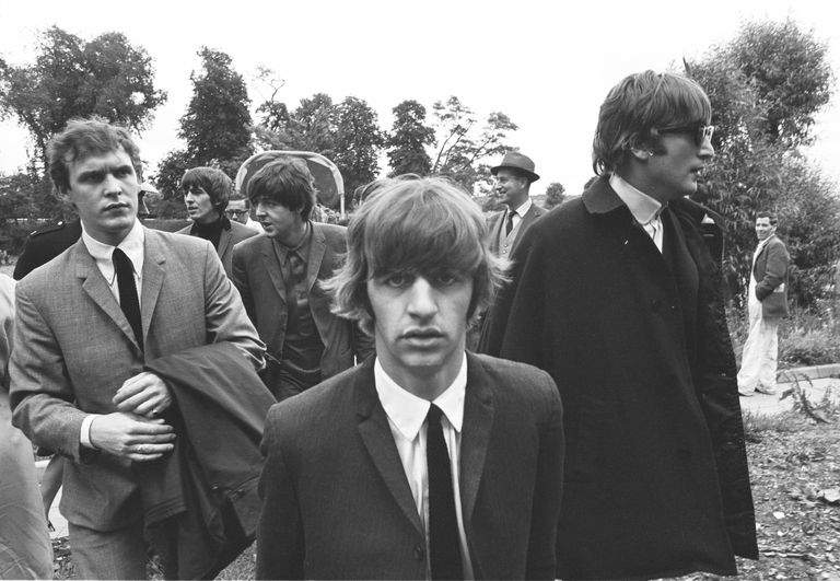 Neil Aspinall (at left) with The Beatles