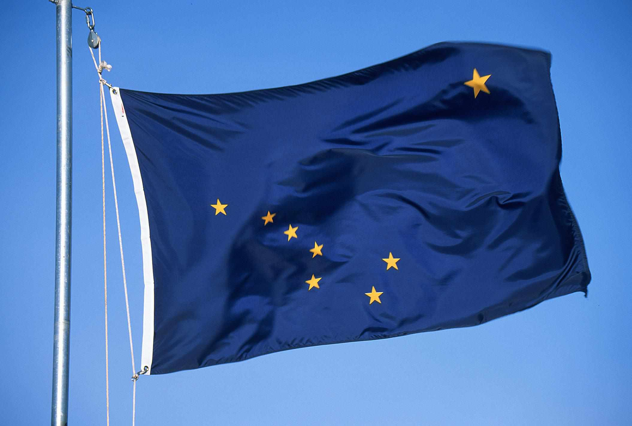 Alaska flag - Fotosearch - GettyImages-124279858