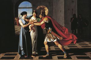 Andromache intercepting Hector at the Scaean Gate