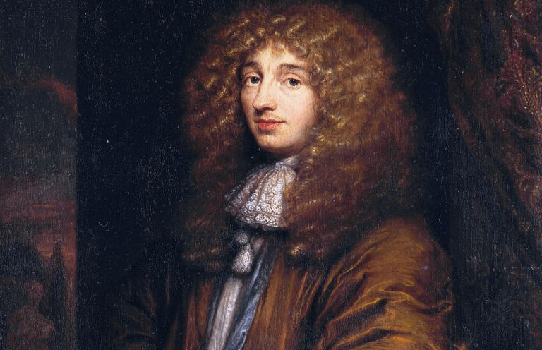 Portrait of Christiaan Huygens.