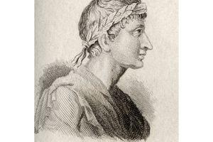 Illustration of the Latin Poet Ovid