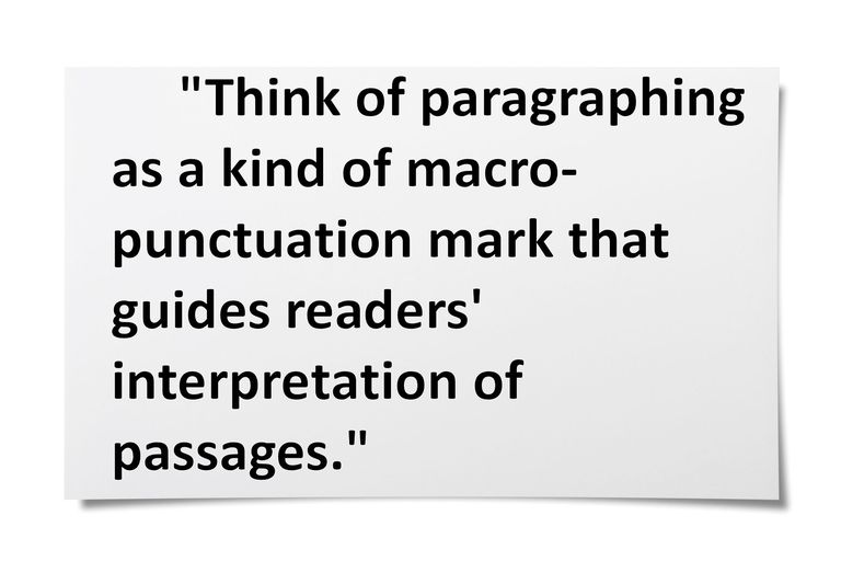 Quote about paragraphing