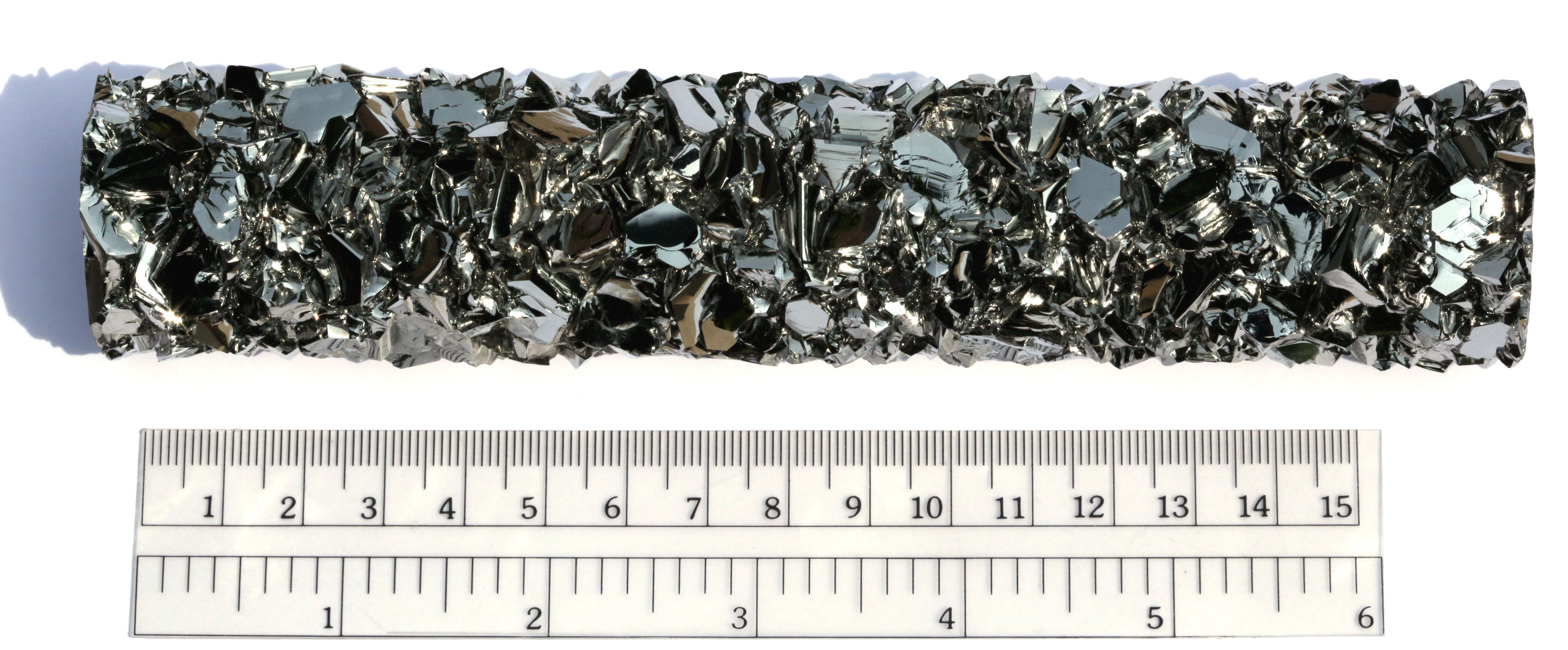 These are crystal of hafnium, one of the transition metals.