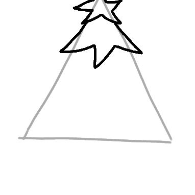 continuing the christmas tree drawing - How To Draw A Christmas Tree Step By Step