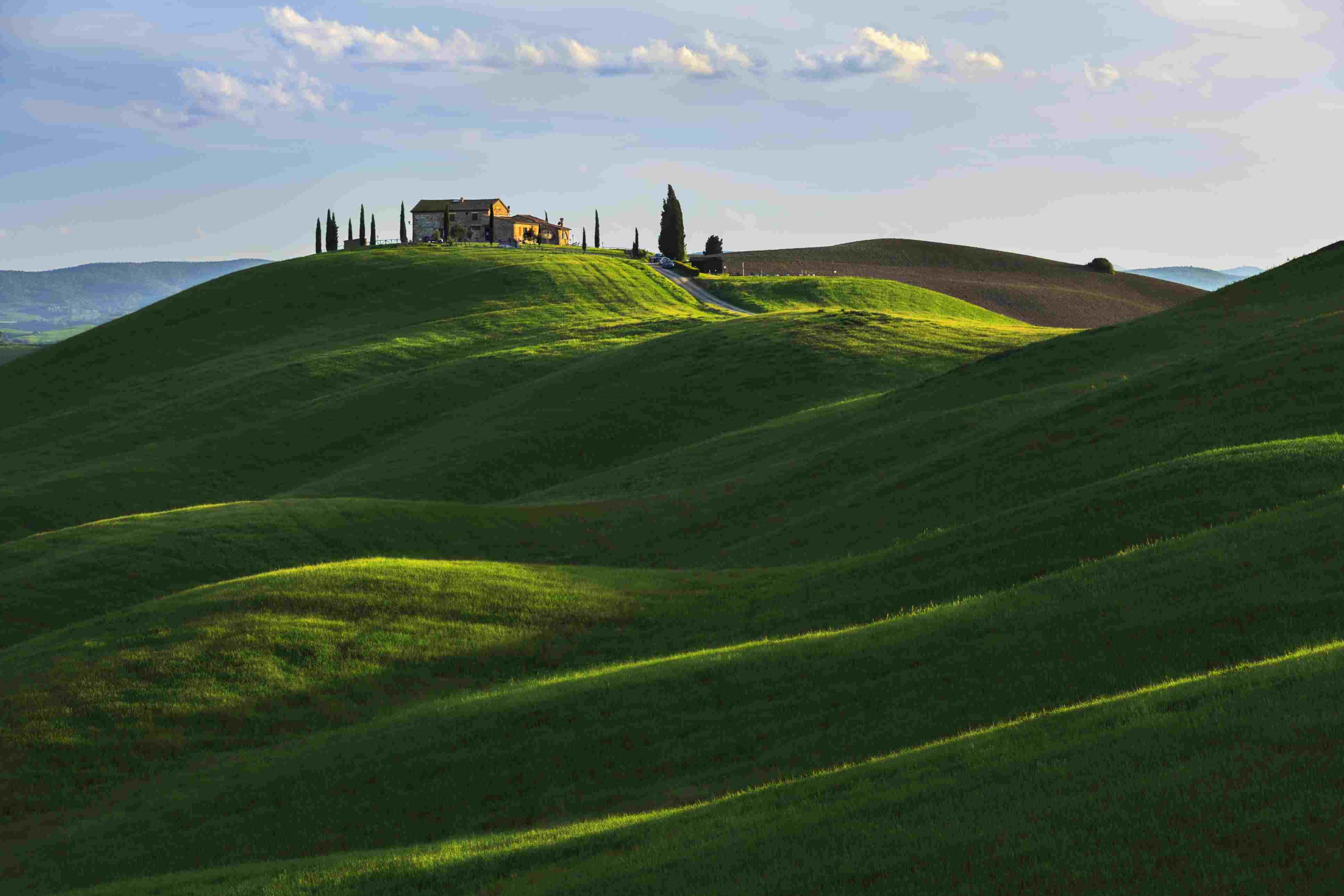 Rolling Hill near Asciano, Tuscany.