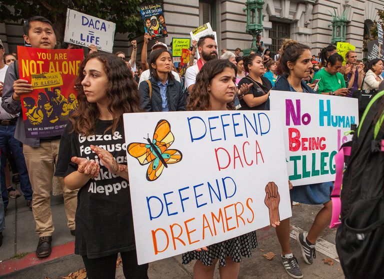 Protesters defending the DREAM act.