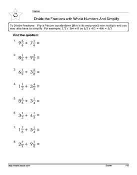 Division of fractions with mixed number workheets divide the fractions with mixed numbers worksheets pdf below ibookread Download