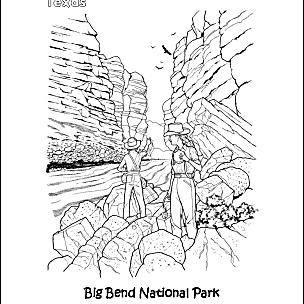 big bend coloring page