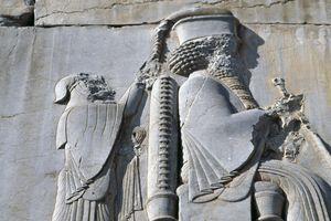 Bas-relief of King Darius I, bas-relief in Iran.