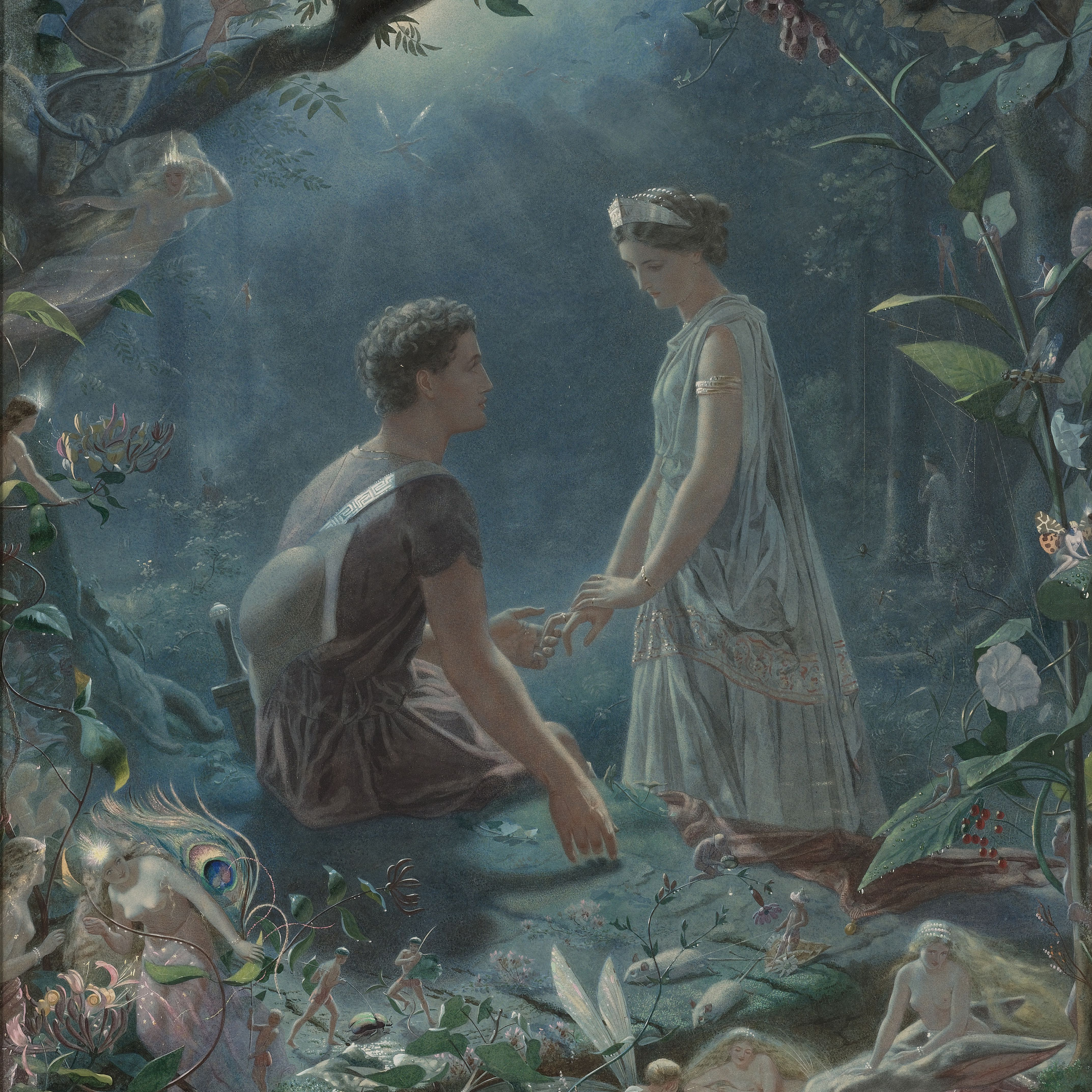 Hermia and Lysander from A Midsummer Night's Dream