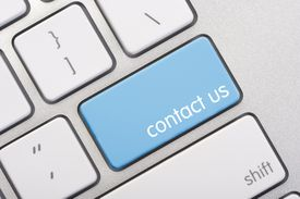 Close up of a contact us key
