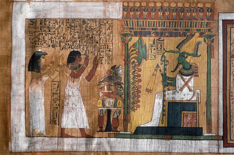Osiris Judges the Deceased, New Kingdom Papyrus