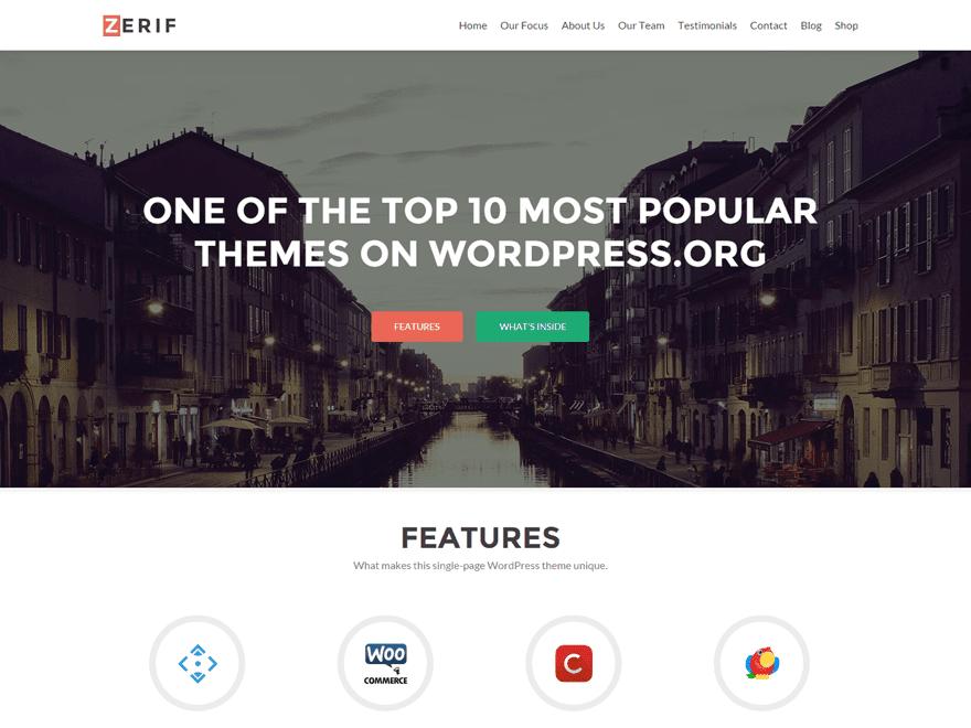 Zerif Lite WordPress Theme Screenshot
