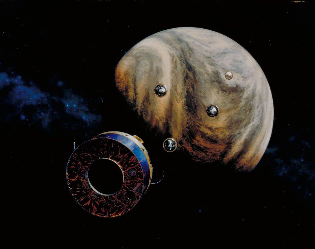 Pioneer Venus Multiprobe mission (artist's concept).