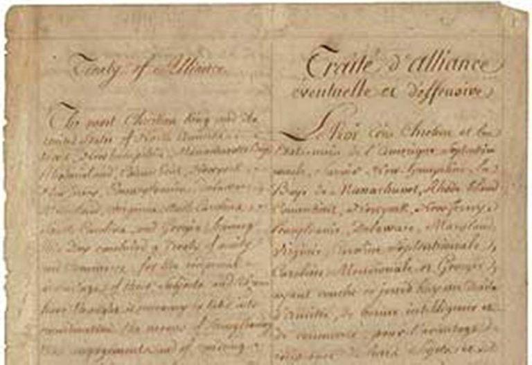 American Revolution Treaty Of Alliance 1778