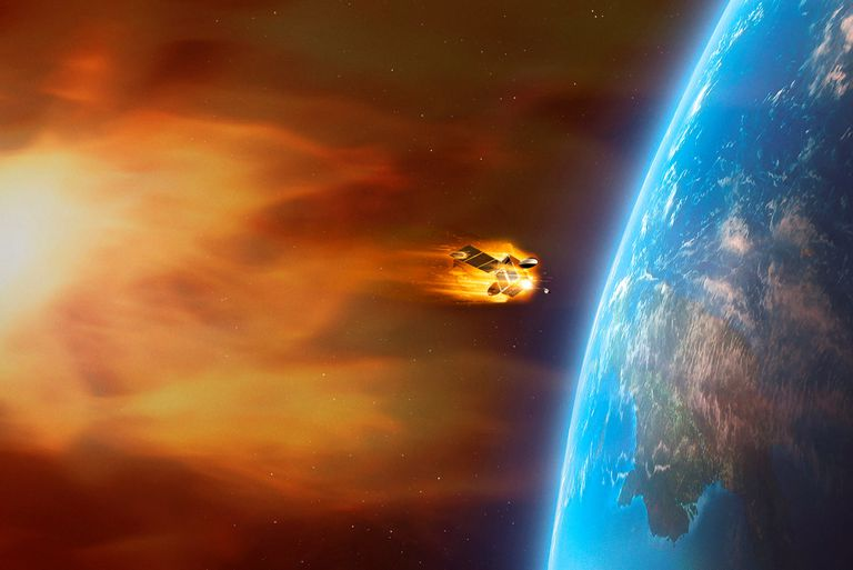Coronal mass ejection heading for earth