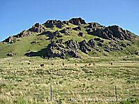 Basalt outcrops in southern Oregon