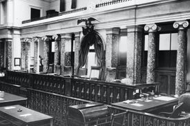 The old Supreme Court Room in the U. S. Capitol. Washington D. C., ca. 1890.
