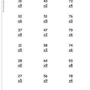 Multiplication Worksheets  And  Digits Timestables  And  Ditit   X  Multiplication Worksheet  X  Timesbable Worksheet
