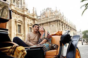 Couple in Seville, Spain