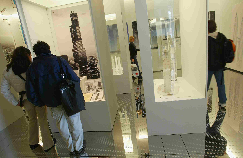 A display at the Skyscraper Museum, April 2, 2004 in New York City.