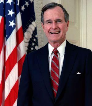 george h w bush biography