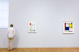 Mondrian Painting at Rijksmuseum, Amsterdam, Holland