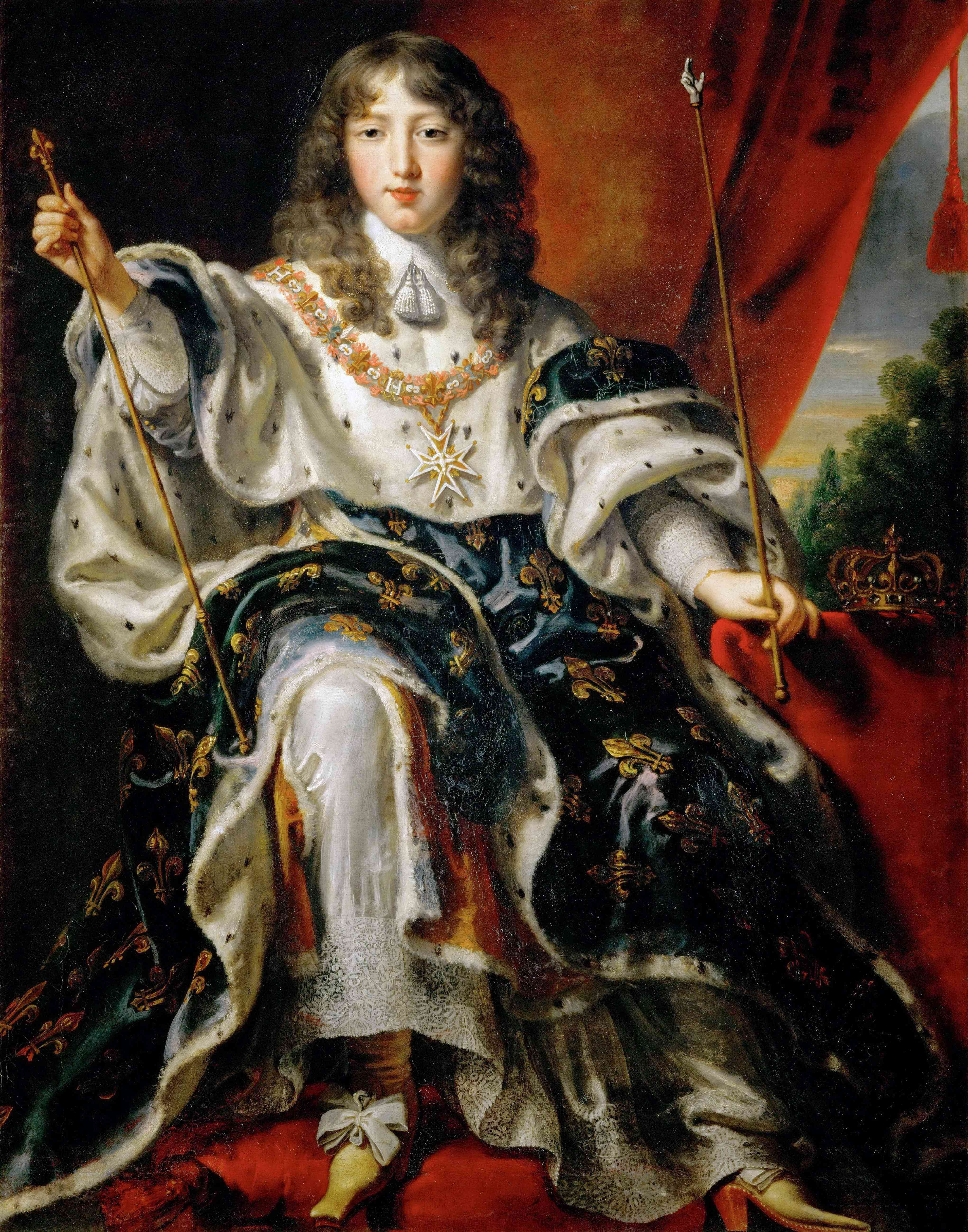Louis XIV, King of France in his Coronation Robes