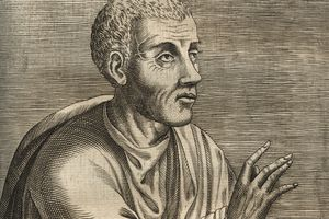 drawing of Quintilian