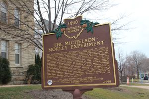 Michelson-Morley experiment sign in Ohio