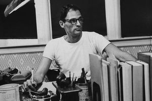 Arthur Miller at work